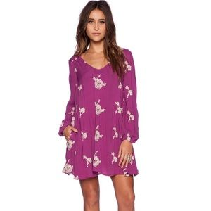 FREE PEOPLE Berry Purple Emma Dress Open Back